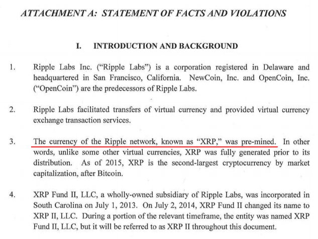 Xrp Called A Currency In The Statement Of Fact And Violation