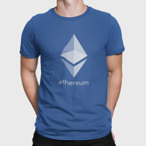 Ethereum T Shirt For Men True Royal