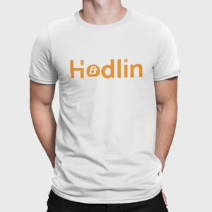 Hodlin Bitcoin T Shirt For Men White