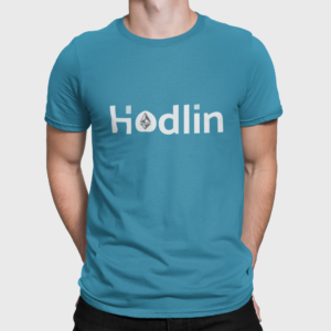 Hodlin Ethereum T Shirt For Men Aqua