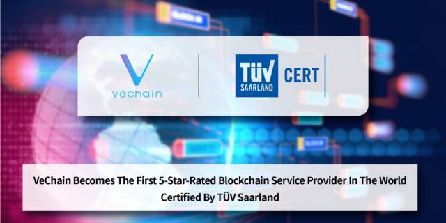 VeChain Becomes The First 5-Star-Rated Blockchain Service Provider In The World, Certified By TÜV…